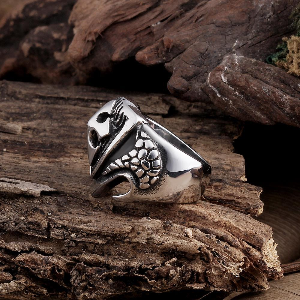 Vienna Jewelry Large Cross Stainless Steel Ring