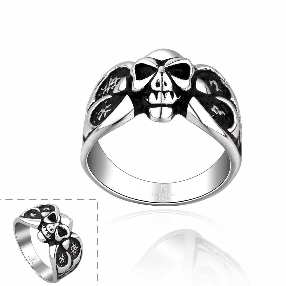 Vienna Jewelry Mini Stainless Steel Skull Ring