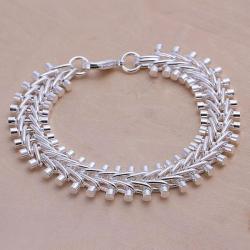 Vienna Jewelry Sterling Silver Multi-Beaded Bracelet - Thumbnail 0
