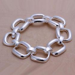 Vienna Jewelry Sterling Silver Multi-Chain Lock Bracelet - Thumbnail 0