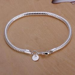 Vienna Jewelry Sterling Silver Petite Sleek Bracelet - Thumbnail 0