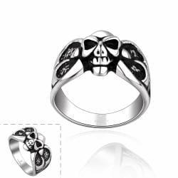 Vienna Jewelry Mini Stainless Steel Skull Ring - Thumbnail 0