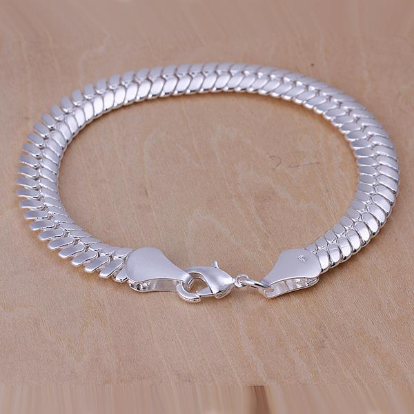Vienna Jewelry Sterling Silver Sleek Snake Layering Bracelet