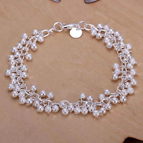 Vienna Jewelry Sterling Silver Multi Pearl Orchid Bracelet