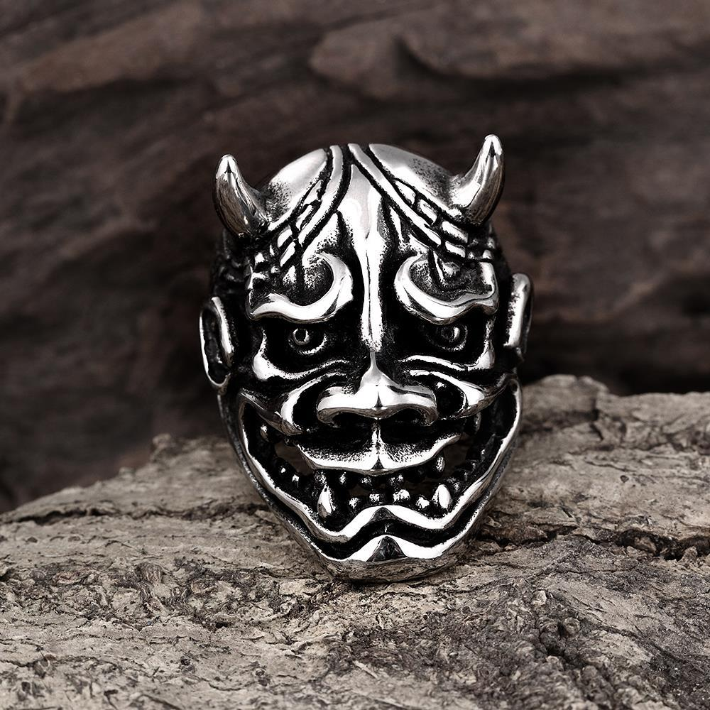 Vienna Jewelry An Ogre's Paradox Stainless Steel Ring