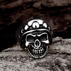 Vienna Jewelry The Skull's Crown Stainless Steel Ring - Thumbnail 0