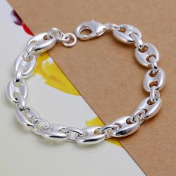 Vienna Jewelry Sterling Silver Abstract Connecting Bracelet - Thumbnail 0