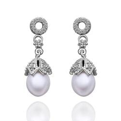 Vienna Jewelry Cultured Pearl Dangling Drop Earrings - Thumbnail 0