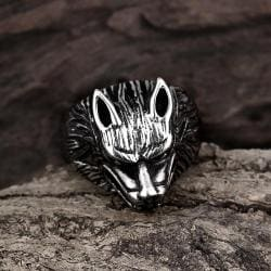 Vienna Jewelry Killer Wolf Stainless Steel Ring - Thumbnail 0
