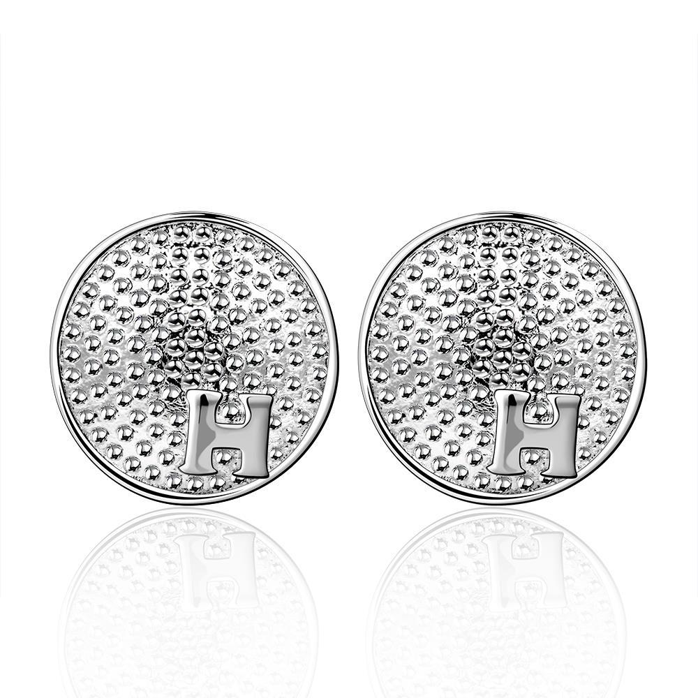 Vienna Jewelry Sterling Silver Ancient Beaded Design Stud Earring