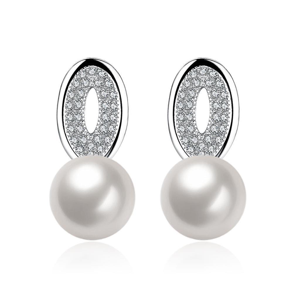 Vienna Jewelry Circular Pendant Cultured Pearl Earrings