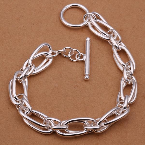 Vienna Jewelry Sterling Silver Intertwined Multi-Linked Bracelet