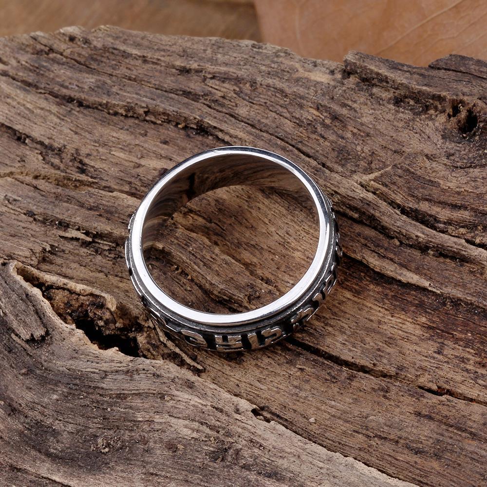 Vienna Jewelry Oriental Ingrained Stainless Steel Ring