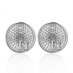 Vienna Jewelry Sterling Silver Ancient Beaded Design Stud Earring - Thumbnail 0