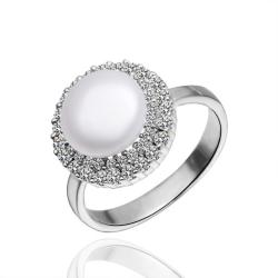 Vienna Jewelry White Gold Plated Jewels Covering Pearl Ring - Thumbnail 0