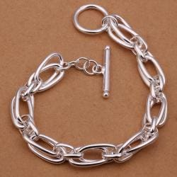 Vienna Jewelry Sterling Silver Intertwined Multi-Linked Bracelet - Thumbnail 0