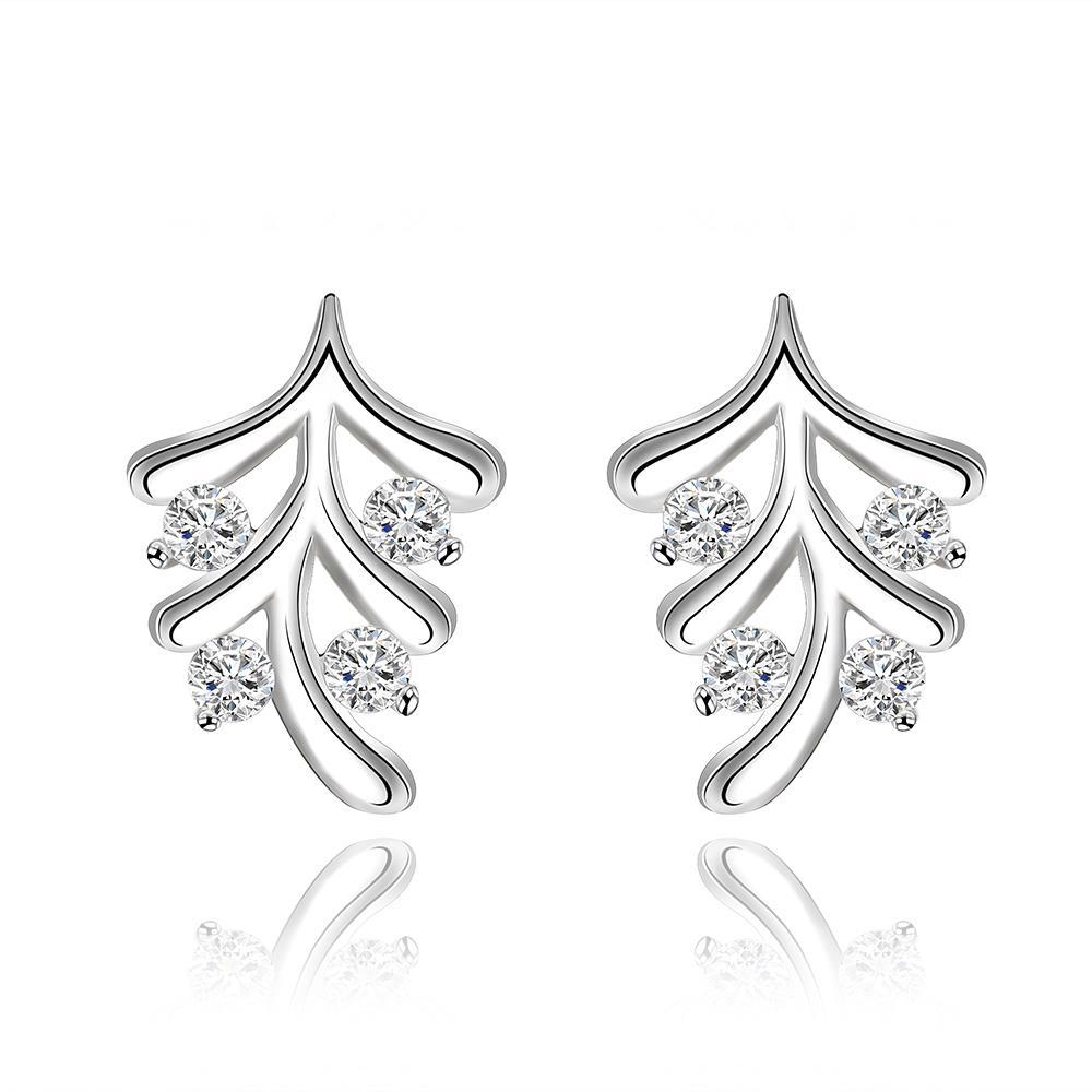 Vienna Jewelry Sterling Silver Vertical Orchid Earring