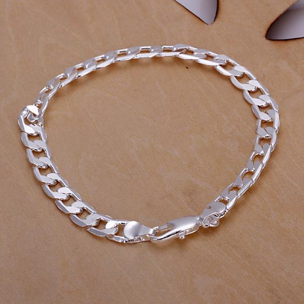 Vienna Jewelry Sterling Silver Petite Sleek Lined Bracelet