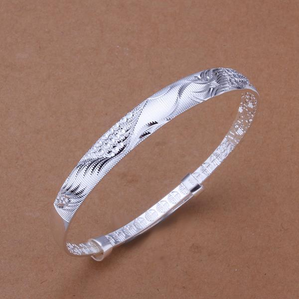 Sterling Silver Ancient Ingrain Open Bangle