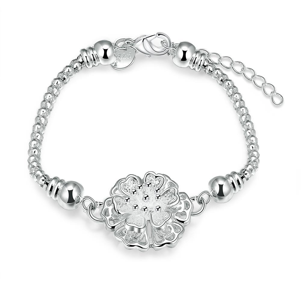 Vienna Jewelry Sterling Silver Blossoming Crystal Ball Bracelet