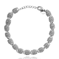 Vienna Jewelry Sterling Silver Pav'e Crystal Connecting Bracelet - Thumbnail 0