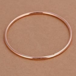 Sterling Silver Gold Coloring Classic Bangle - Thumbnail 0