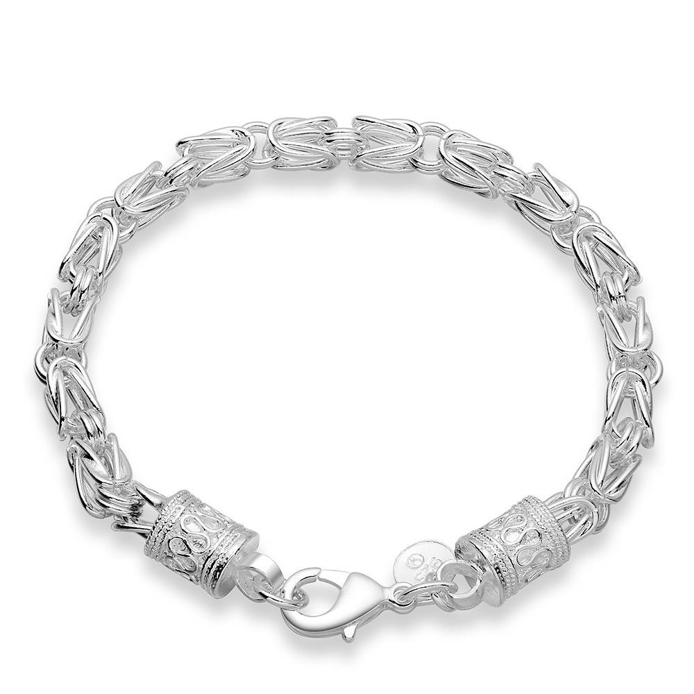 Vienna Jewelry Sterling Silver Classic Sleek New York Bracelet