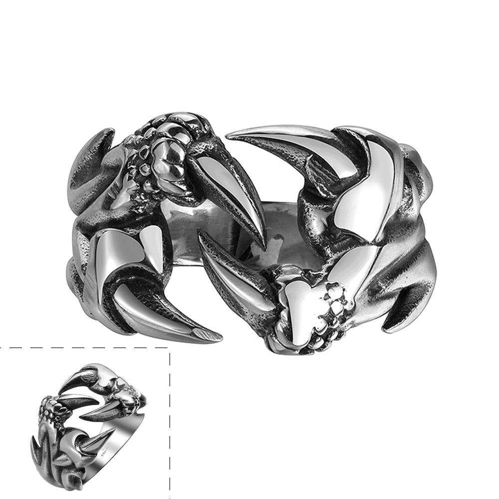 Vienna Jewelry Laser Cut Stainless Steel Sword Ring
