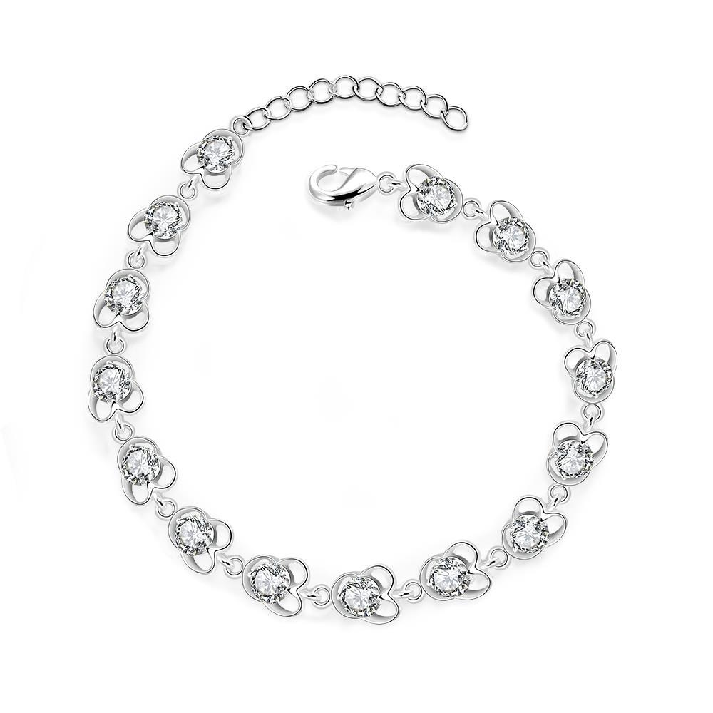 Vienna Jewelry Sterling Silver Multi-Petite Floral Bracelet