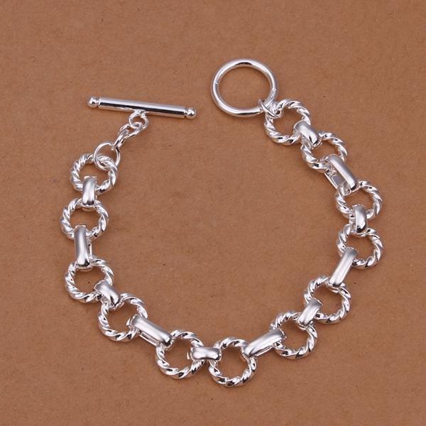 Vienna Jewelry Sterling Silver Multi-Circular Chain Bracelet