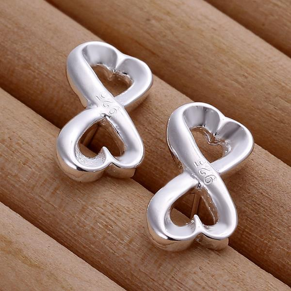 Vienna Jewelry Sterling Silver Infinite Shaped Earring