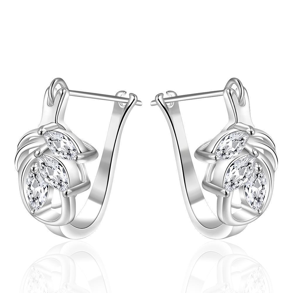 Vienna Jewelry Sterling Silver U Hook Elegant Earring