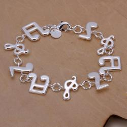 Vienna Jewelry Sterling Silver Musical Notes Bracelet - Thumbnail 0