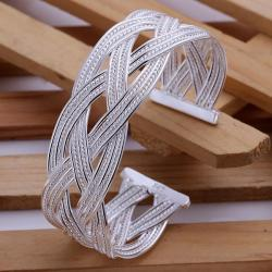 Sterling Silver Intertwined Vine Bangle - Thumbnail 0