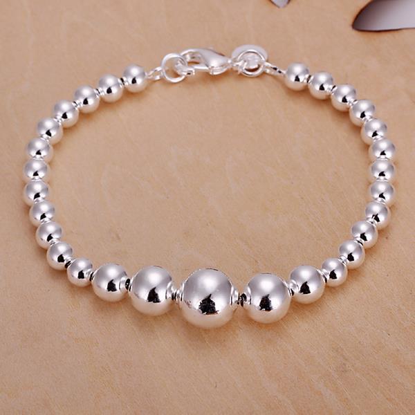 Vienna Jewelry Sterling Silver Multi Bead Design Bracelet