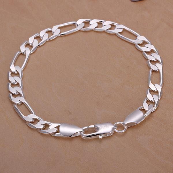 Vienna Jewelry Sterling Silver Sleek London Inspired Bracelet