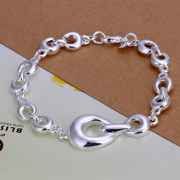 Vienna Jewelry Sterling Silver Multi Linked Chain Bracelet