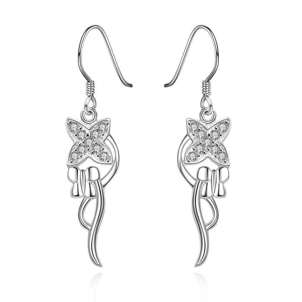Vienna Jewelry Sterling Silver Drop Pendant Drop Earring