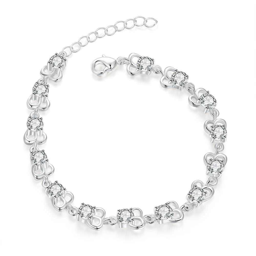 Vienna Jewelry Sterling Silver Petite Cubed Shaped Connecting Bracelet