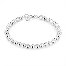 Vienna Jewelry Sterling Silver Multi-Bead Sleek Bracelet - Thumbnail 0