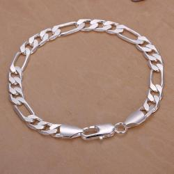 Vienna Jewelry Sterling Silver Sleek London Inspired Bracelet - Thumbnail 0