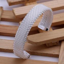 Sterling Silver Open Mesh Bangle - Thumbnail 0