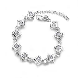 Vienna Jewelry Sterling Silver Multi Cubed Connecting Bracelet - Thumbnail 0