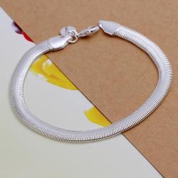 Vienna Jewelry Sterling Silver Snake Design Sleek Bracelet - Thumbnail 0