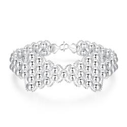 Vienna Jewelry Sterling Silver Pearl Infinite Knot Bracelet - Thumbnail 0