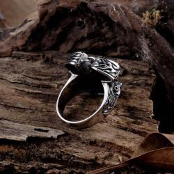 Vienna Jewelry Oil Drilling Stainless Steel Ring - Thumbnail 0