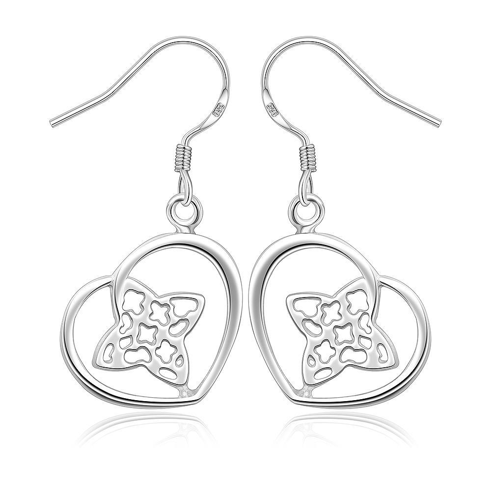 Vienna Jewelry Sterling Silver Clover & Hearts Earring