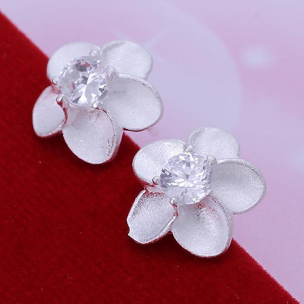 Vienna Jewelry Sterling Silver Blossoming Ivory Floral
