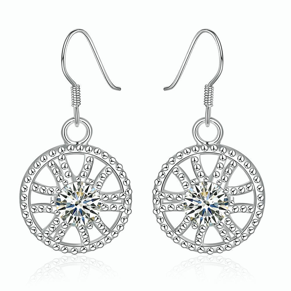 Vienna Jewelry Sterling Silver Spiral Swirl Design Drop Earring