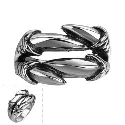 Vienna Jewelry Artistic Stainless Steel Connected Ring - Thumbnail 0